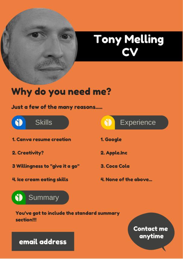 create a cv  resume  on canva  u2013 tonymelling wordpress com